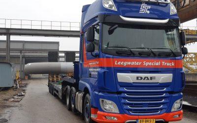 Intern transport van pipespools van 7(!) meter breed