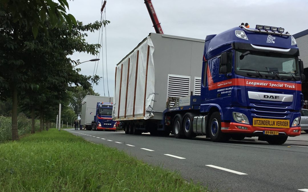 "Aftermovie ""speciaal transport van prefab pompkamer"""